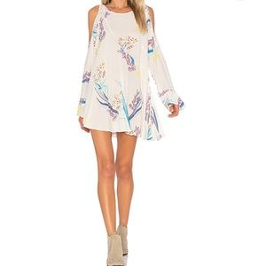 Free People Clear Skies Tunic Dress Neutral NWT SM